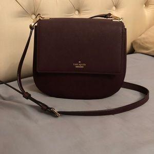 Kate Spade Burgundy Byrdie Crossbody Bag